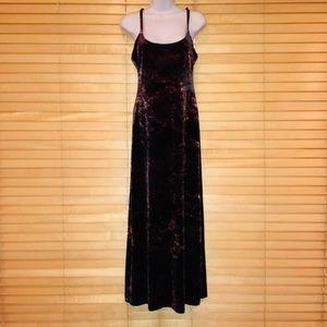Vintage Betsy Johnson Galaxy Suede Maxi Dress